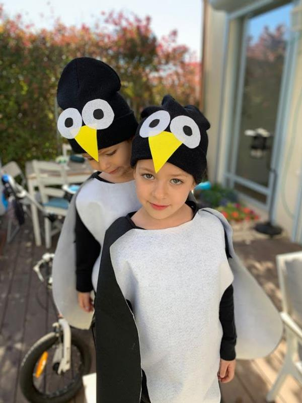 pinguin diy coustome תחפושת של פינגווין